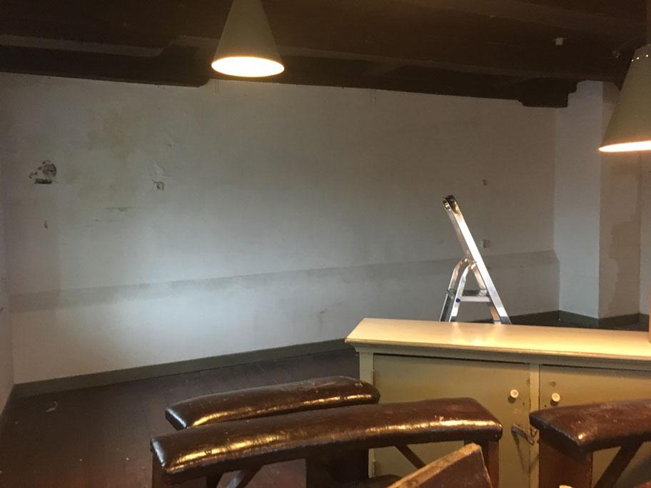 Voortgang renovatie tekenzaal