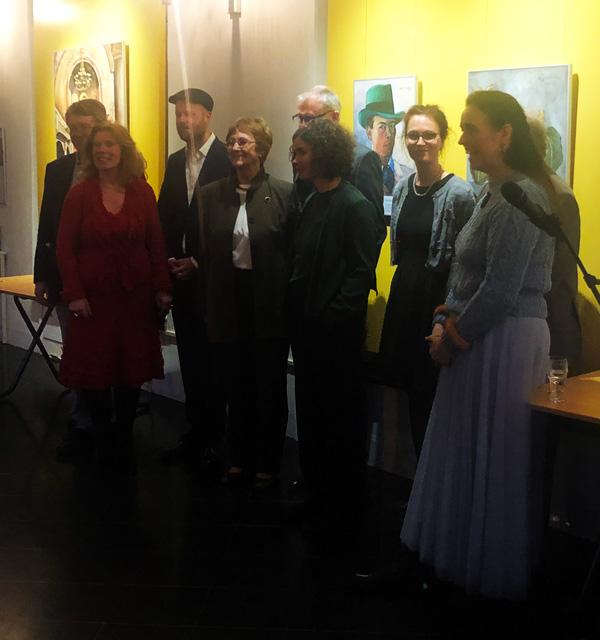 Foto impressie opening expositie Felix Nussbaum
