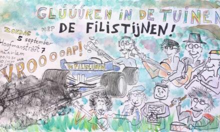 De Filistijnen treden op tijdens het evenement STRUINEN IN DE TUINEN editie 2021