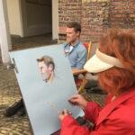 Open monumentendagen  – Portrettekenen in de Kloostertuin van het Stadhuis