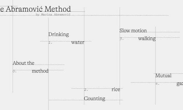 The Abramoviç Method door Marina Abramoviç